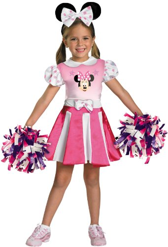 Lets Party By Disguise Inc Mickey Mouse Clubhouse - Minnie Mouse Cheerleader Toddler / Child Costume / Pink - Size Small (4/6x)