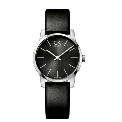 Calvin Klein Women's Quartz Watch Calvin Klein City Lady K2G23107 with Leather Strap