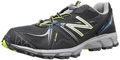 New Balance Men's MT610 Trail Running Shoe,Black/Silver,7 4E US