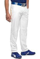 Puma Men's Golf Drizzle Pant, White-Orange