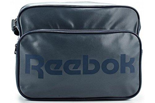 Reebok CL Roy Shoulder blu scuro ab9103Portafoglio unisex, 37x 14x 27cm