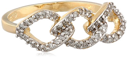 10K Yellow Gold Diamond (1/4Cttw, I-J Color, I2-I3 Clarity) Ring, Size 6