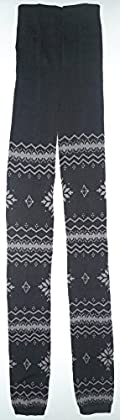Lace Poet Thick Warm Snowflake Nordic Sweater Pants/Leggings