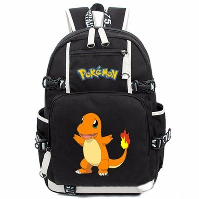 Cuero-de-la-vaca-Piel-Cartera-Multi-bolsillos-Monedero-Cartera-fina-hombre-Anime-Purse-Pokemon-Go-Bag-Pikachu-Mochila-Historietas-Negro