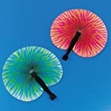 "Paper Bright Print Fans (1 dz, 10"", colors may vary)"