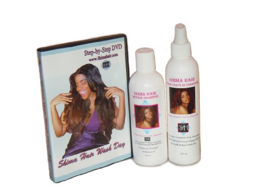 (8oz) Shima Hair Repair Shampoo, Leave-in Conditioner and DVD Combo! online