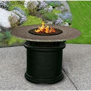California-Outdoor-Concepts-2020-BK-FP-PEB-42-Del-Mar-Dining-Height-Fire-Pit-Black-Gas-Logs-Pebble-42-in