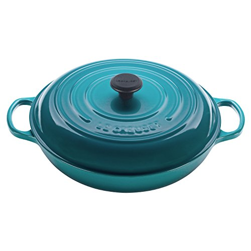 Le Creuset Signature Caribbean Enameled Cast Iron 5 Quart Braiser