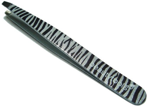 Beauty Tools Slant Zebra Tweezer Professional Tweezers