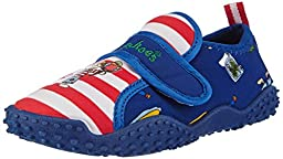 Playshoes Boys UV Protection Pirate Collection Aqua Swimming / Beach Shoes (2 M US Little Kid)