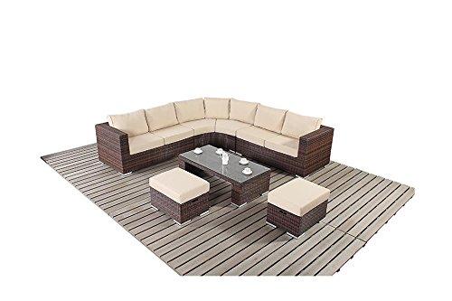Sydney Rustic Garden Möbel Abgerundete Ecke Sofa-Set