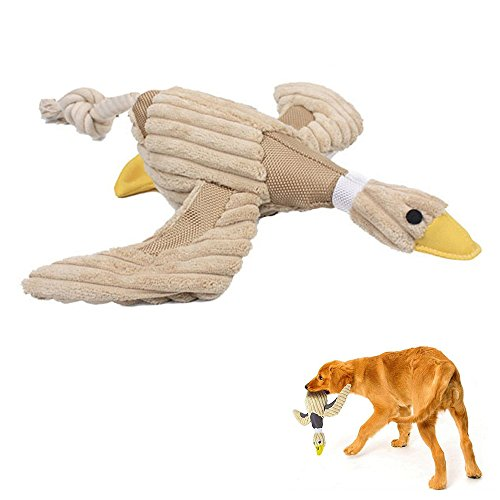 Geekercity Pet Dog Chew Toys Dental Teaser Rope Duck Cotton Squeaky Toy Teeth Cleaning Plush Nontoxic Bite-resistant Dog Play Toy for Pet Training Playing Chewing (Register Chevy compare prices)