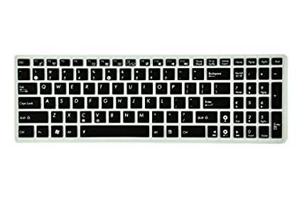Saco-Chiclet-Keyboard-Skin-for Asus-X553MA-BING-SX488B-15.6-inch-15.6-inch-Laptop-(Black/Clear)