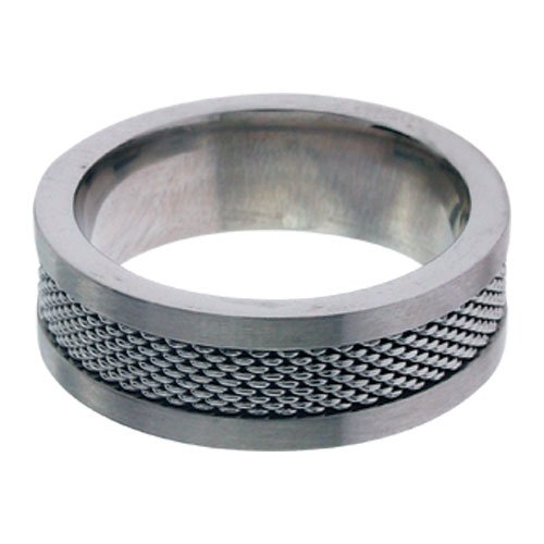 Size 11 - Inox Jewelry Mesh 316L Stainless Steel Ring