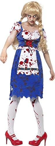 [Smiffy's Women's Zombie Bavarian Female Costume with Dress, Multi, Medium] (Zombie Costume For Female)