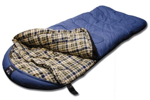 Grizzly -25 Degree Canvas Sleeping Bag (Blue)