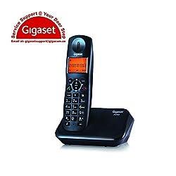 Gigaset A450 Black cordless landline phone