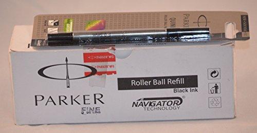 Parker Quink Recharge pour stylo à bille fin Encre noire Navigator technologie (Lot de 10)