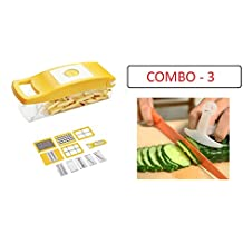 HOME CUBE® High Quality 12 In 1 Fruits And Vegetable Cutter - Nicer Slicer Dicer, Chopper, Grater, Peeler - All...