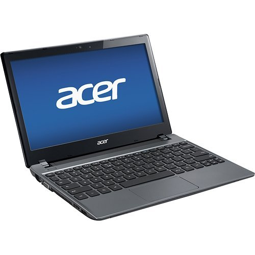 Acer C7 Chromebook 11.6 Intel Dual Core B847 1.1 GHz 2GB DDR3 320GB 5400RPM HDD Wifi HDMI USB3.0 VGA Card Reader