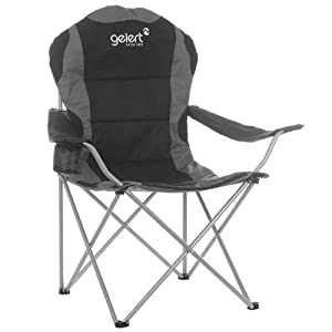 Gelert Outdoors Fishing Camping Drink Holder Padded Quick Collapse Deluxe Chair