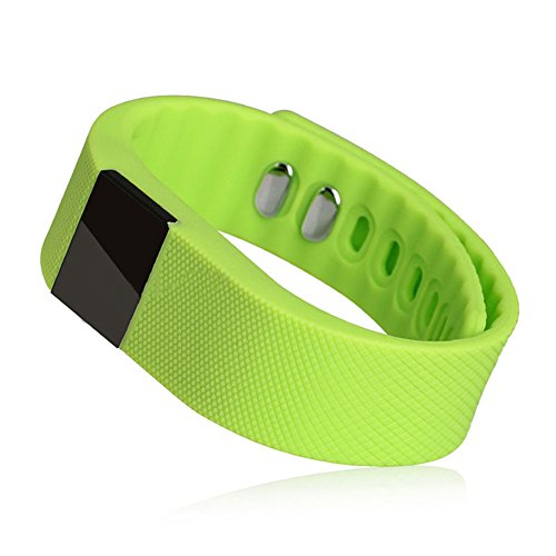 Hideer TW64 Waterproof Bluetooth Anti-lost Silicone Smartband Smart Watch Wrist Band Smartwatch Pedometer, Fitness Activity Tracker, Step recorder, Sleep monitor, Reminder for Android IOS Smartphones (Green)