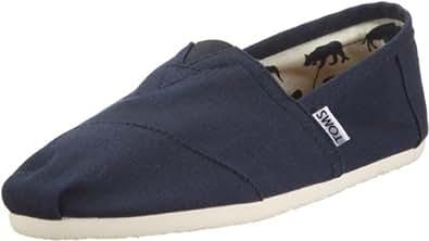TOMS Men's Navy Canvas Classics Loafer Flats 001001A07NVY (USM 10)