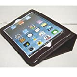 iPad mini ケース/アイパッド ミニ/スタンドB型/合皮製/牛皮模様/ブラウン/茶色