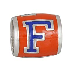 Teagan Collection University of Florida Gators Blue F on Orange Bead