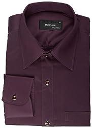 Koutons Men's Formal Shirt (HD-209--40, Purple, 40)