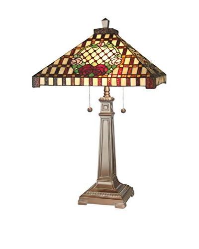 Dale Tiffany Mission Rose Table Lamp, Multi