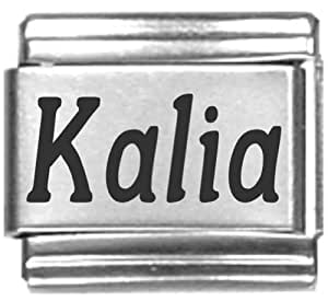 Amazon.com: Kalia Laser Name Italian Charm Link: Italian ...