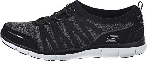 SKECHERS Women's Gratis - Shake-It-Off Black 1 Sneaker 5 B (M)