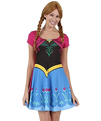 Womens I Am Anna Frozen Skater Dress