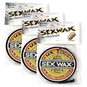 Sex Wax Car Air Freshener Coconut Scent 3-Pack