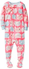 Carters Baby Girls 1 Piece Cotton Printed Footie Baby