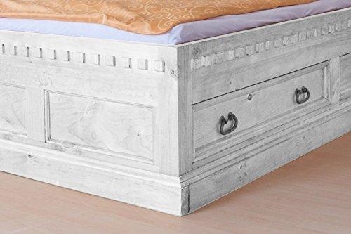 Möbelkultura HAC-280 w-v/180 Bett 180 x 200 cm, weiß