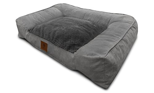 American Kennel Club Memory Foam Sofa Pet Bed, X-Large, Gray (Big Dog Kennel compare prices)