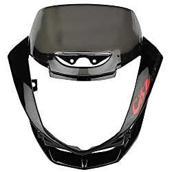 Zadon Front Fairing (Visor) with Glass for Hero CBZ Xtreme (Black)
