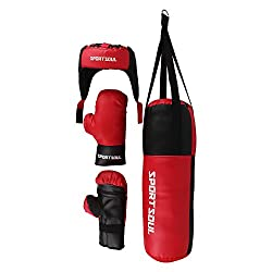 SportSoul Kid's Boxing Set (Punching Bag, Gloves & Headgear)