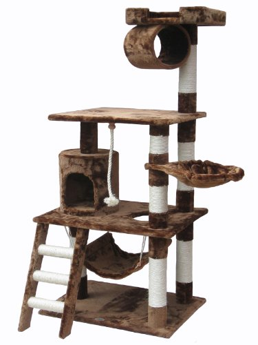 Go Pet Club Brown 62″ Cat Condo F68