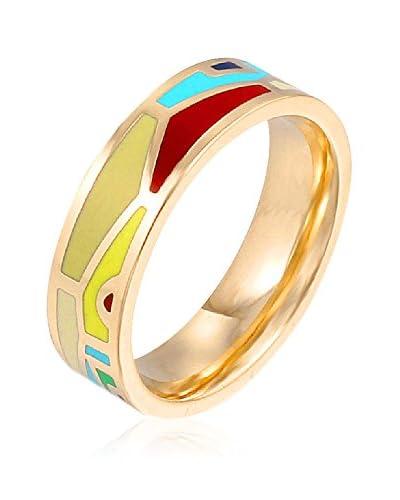 ROSE SALOME JEWELS Ring R008S vergoldeter Stahl 18 Karat