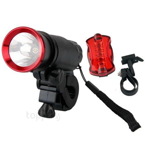 270Lm 5W Cree Q5 Bike Bicycle Cycle Headlamp Head Lamp Flash + 5 Led Rear Light