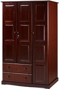 Amazon.com - 100% Solid Wood Grand Wardrobe•Armoire•Closet ...