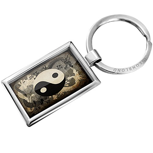Keychain Yin and yang, ying dragon – Neonblond