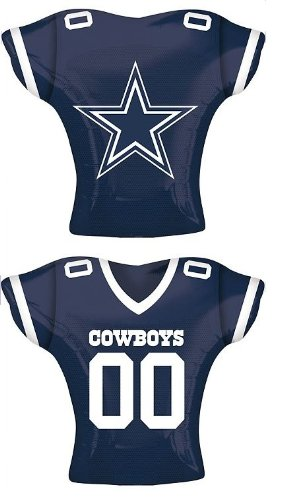 "Anagram International Dallas Cowboys Jersey Flat Party Balloons, 24"", Multicolor"