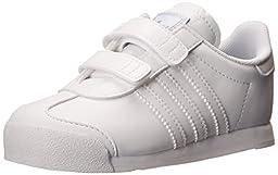 adidas Performance Samoa CF I Casual Sneaker (Infant/Toddler), White/Running White/Silver, 7 M US Toddler