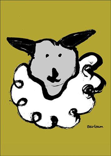 Verschicken Sie eine lustige Grusskarte mit Schaf - nicht nur zu Ostern • auch zum direkt Versenden mit ihrem persönlichen Text als Einleger.
