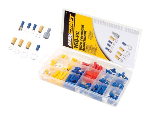 MAXCRAFT 7732 Wire Terminal Assortment, 160-Piece