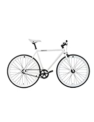 FabricBike-Fixed Gear Bike, Single Speed,Hi-Ten steel white frame, 10Kg